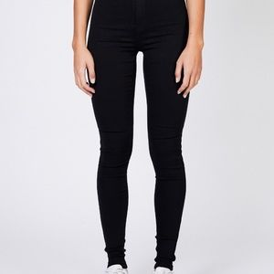 NWT Dr Demin Solitaire Jeans Black